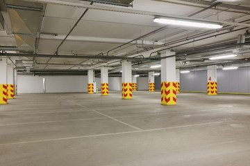 Underground car parking with free places