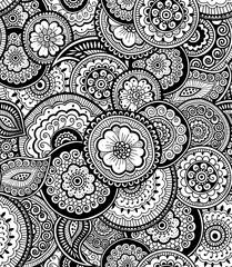 Decorative nature ornamental seamless pattern. Zen-tagle style