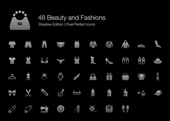 Beauty and Fashions Pixel Perfect Icons Shadow Edition