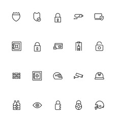 Security Line Vector Icons 4