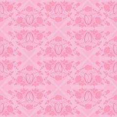 wedding seamless pattern - floral ornament with wedding rings a