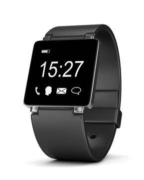 Smartwatch Digital Clock on White