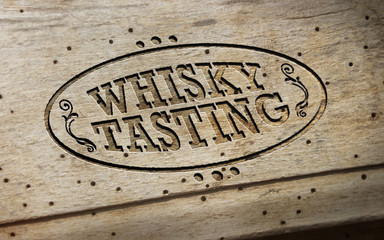 Whisky Tasting - Wood - Oval