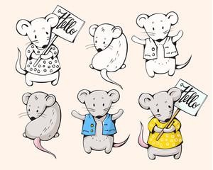Cartoon mice