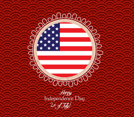 Happy 4th of July. Independence Day - button Badge