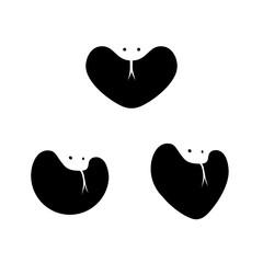 Cobra negative space logo template