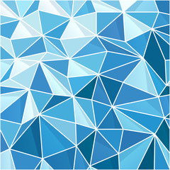 Abstract Blue Geometric Background. Composed from triangle shape