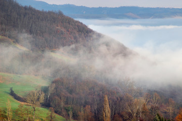 Italian landscape in the Apennines mountains