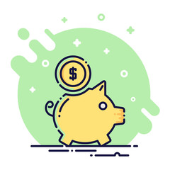 Piggy Flat Icon