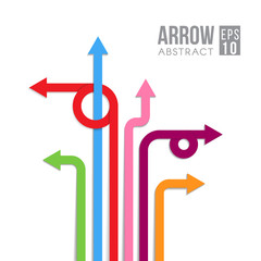 Arrow direct signs abstract vector eps design
