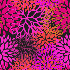 Pink violet color floral seamless pattern vector design