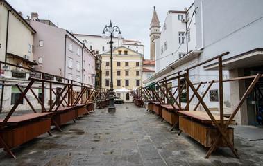 Small market in Piran