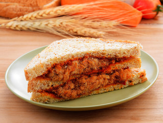Shredded pork with Chillies sauce Sandwich
