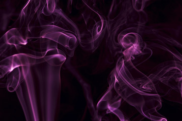 Motion of purple smoke, smoky background