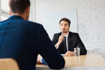 Professional businessman during job interview