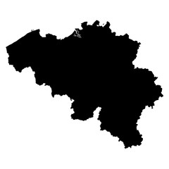 Belgium black map on white background vector