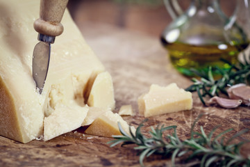 Parmesan Cheese with rosemary and olive oil
