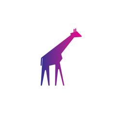 Giraffe vector logo template