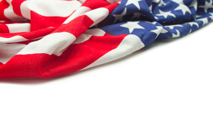 American flag border isolated
