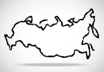 Abstract outline of Russia map