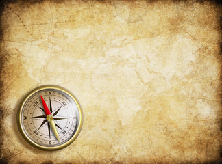 vintage map background with compass