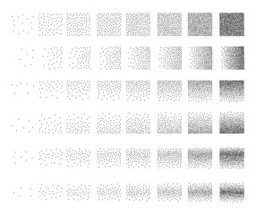 Set of 48 triangle Stipple pattern for design . Spot engraving to create brushes . Engraving for retro backgrounds . Engraving for shade . Very detailed set of tile engraving for design