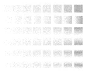 Set of 48 exclamation point Stipple pattern for design . Spot engraving to create brushes . Engraving for retro backgrounds . Engraving for shade . Very detailed set of tile engraving for design