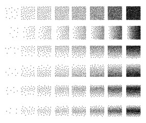 Set of 48 star Stipple pattern for design . Spot engraving to create brushes . Engraving for retro backgrounds . Engraving for shade . Very detailed set of tile engraving for design
