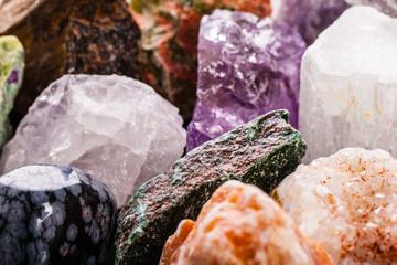 semi-precious gems closeup