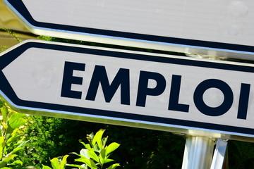 """panneau de signalisation""""emploi"""", concept"""