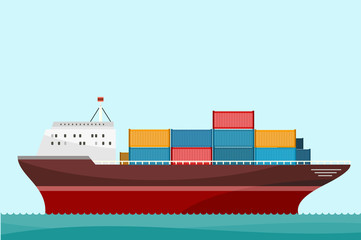 Cargo Ship Containers Shipping