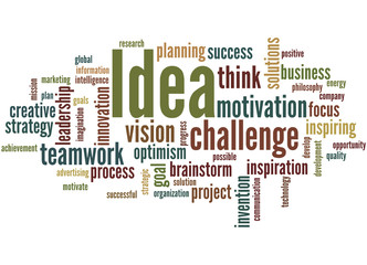 Idea, word cloud concept 7