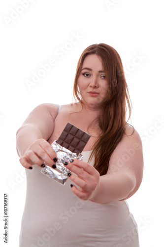 Fat Girl Covered In Chocolate