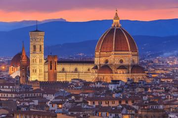 Obraz Zmierzch nad Florencja, Toskania, Włochy - fototapety do salonu