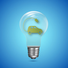 Electric car in an bulb - Ecological design