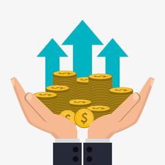 Profit Icon Design , Vector Illustration  Profit & Loss Template Free