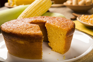 Corn cake. Traditional Brazilian treats made of corn.