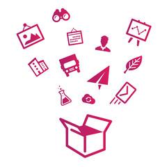 Icon box vector graphics