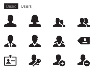 Users & People Vector icons set
