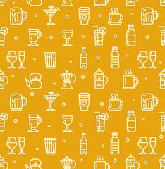 Drink Background for Bar Restaurant. Vector