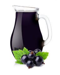 Pitcher of blackcurrant juice