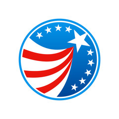 star america flag icon logo
