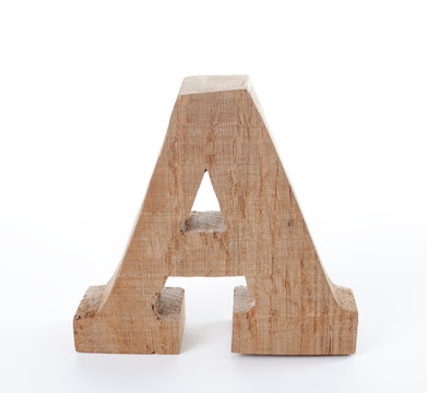 Natural wood craft letter toy
