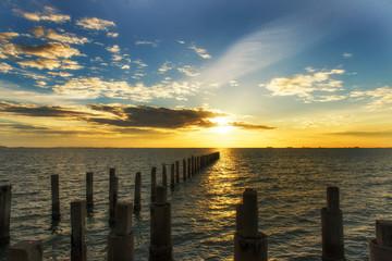 Seascape at the sunrise