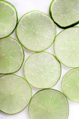 Macro of lime slices