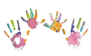 Photo of colored hand prints
