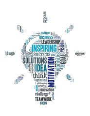 Light Bulb Idea, word cloud concept 4