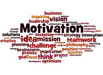 Motivation, word cloud concept 4
