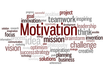 Motivation, word cloud concept 5
