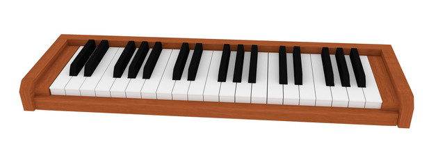small classical wooden piano keyboard